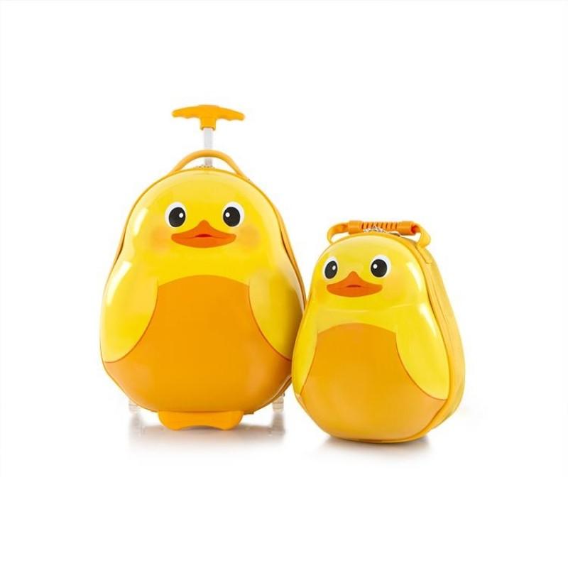 Heys TRAVEL TOTS dětská sada kufru a batohu, motiv Duck