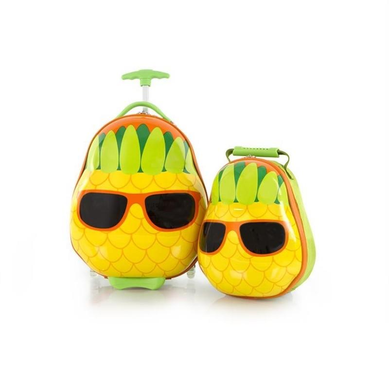 Heys TRAVEL TOTS dětská sada kufru a batohu, motiv Pineapple