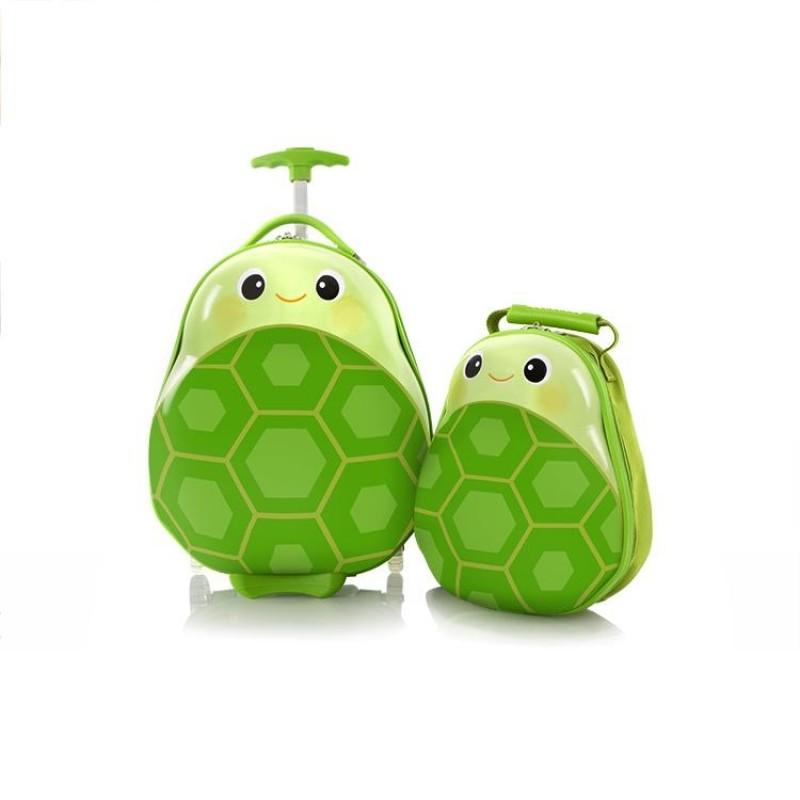Heys TRAVEL TOTS dětská sada kufru a batohu, motiv Turtle