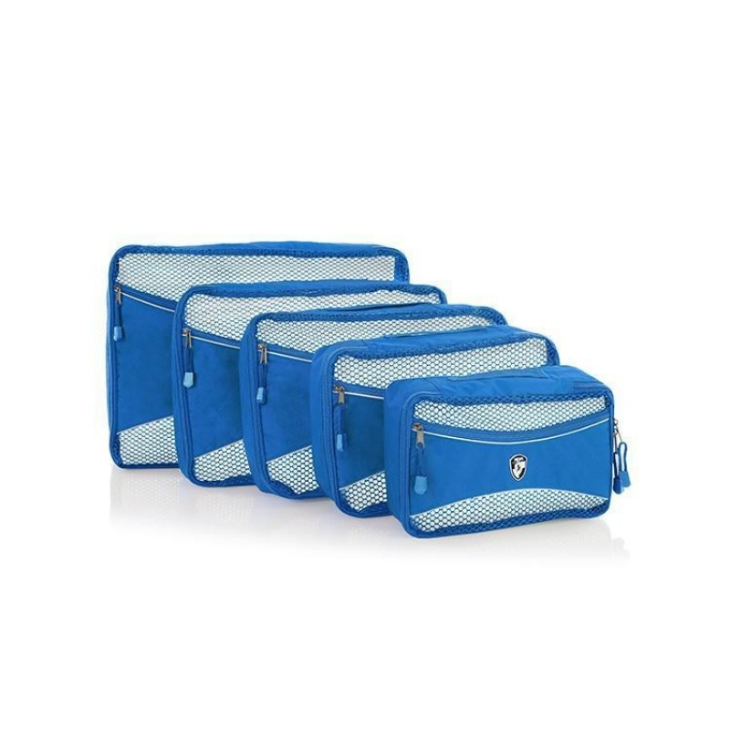 Heys ECO PACKING CUBE Sada pěti organizérů (Blue)