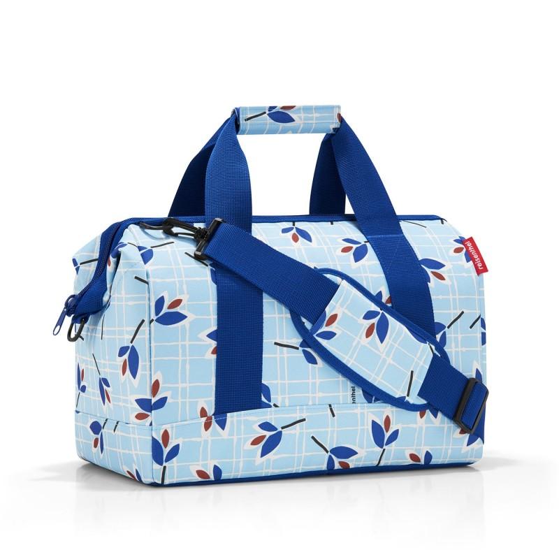 Reisenthel ALLROUNDER Cestovní taška přes rameno, M (Leaves Blue)