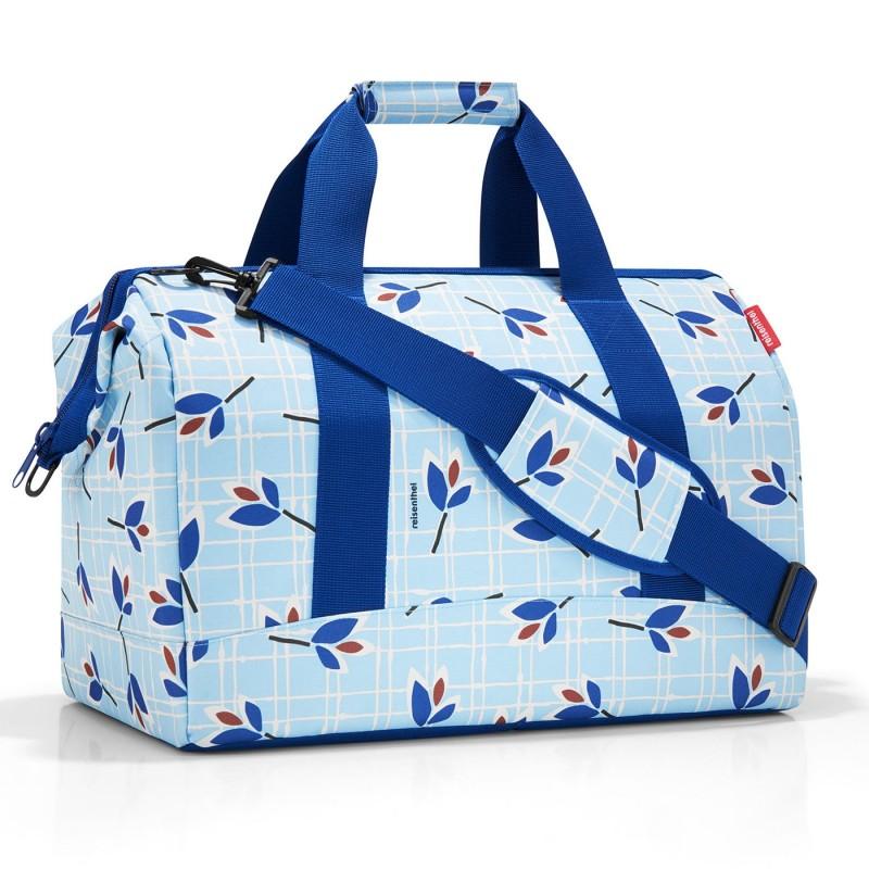 Reisenthel ALLROUNDER Cestovní taška přes rameno, L (Leaves Blue)