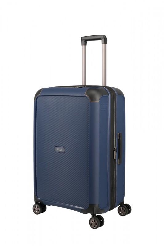 Titan COMPAX Luxusní skořepinový kufr 67 cm (Navy)