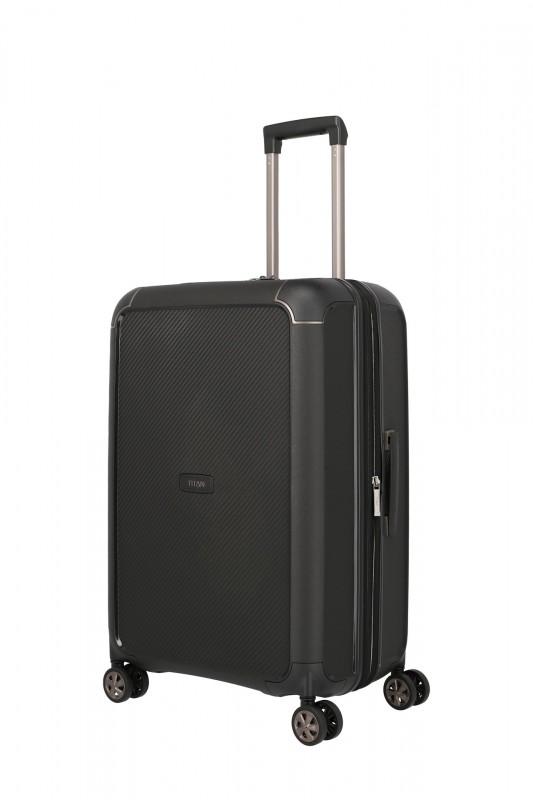 Titan COMPAX Luxusní skořepinový kufr 67 cm (Black)