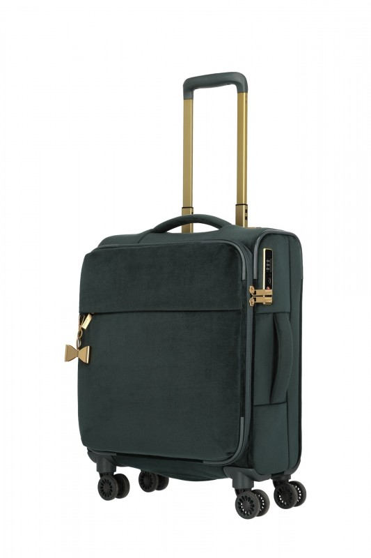 Titan BARBARA VELVET Kabinový kufr v imitaci sametu 55cm (Forest Green)
