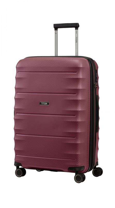 Titan HIGHLIGHT Extra odolný skořepinový kufr 67cm (Merlot)
