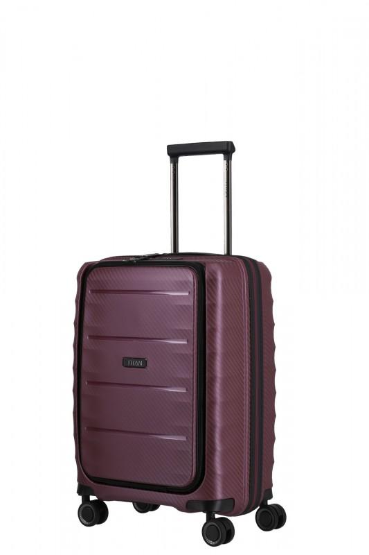 Titan HIGHLIGHT Palubní kufr s přední kapsou 55 cm (Merlot)