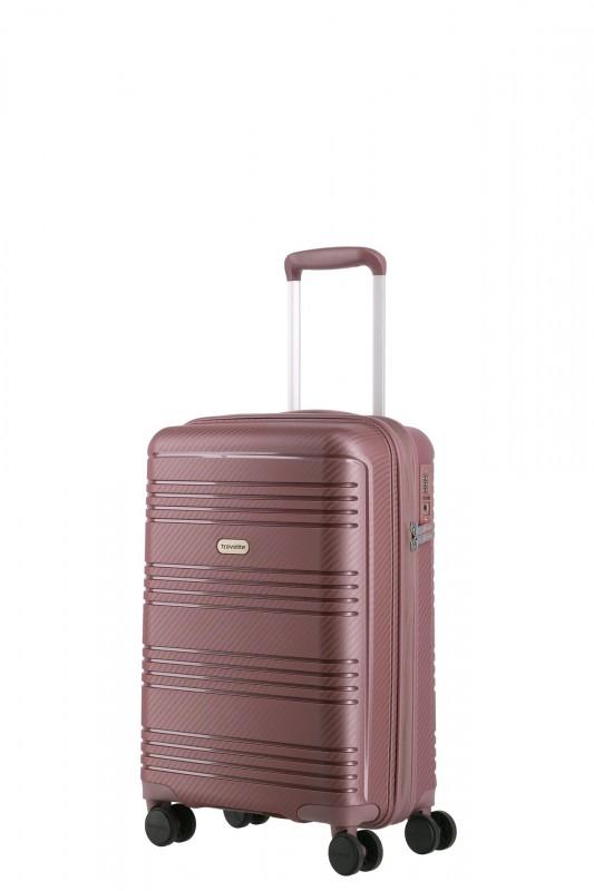 Travelite ZENIT Příruční skořepinový kufr 55 cm (Dark Rose)