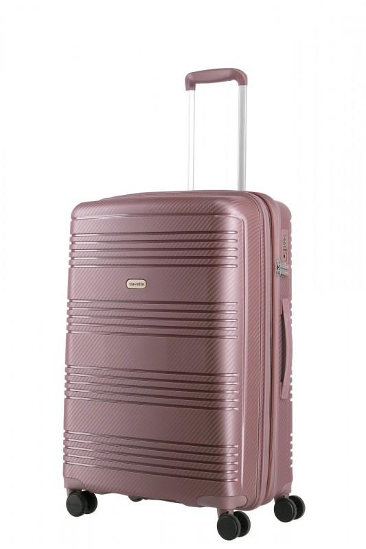 Travelite ZENIT Rozšířitelný spořepinový kufr 68 cm (Dark Rose)