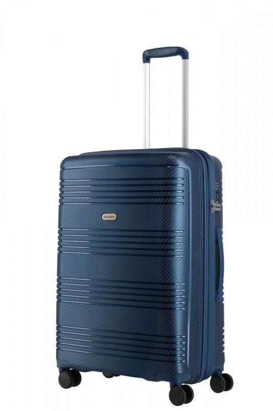 Travelite ZENIT Rozšířitelný spořepinový kufr 68 cm (Blue)