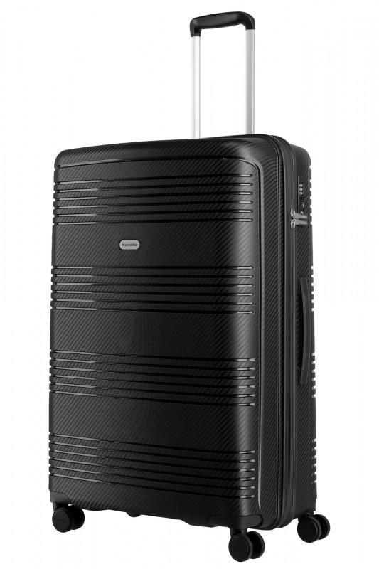 Travelite ZENIT Odolný spořepinový kufr 77 cm (Black)