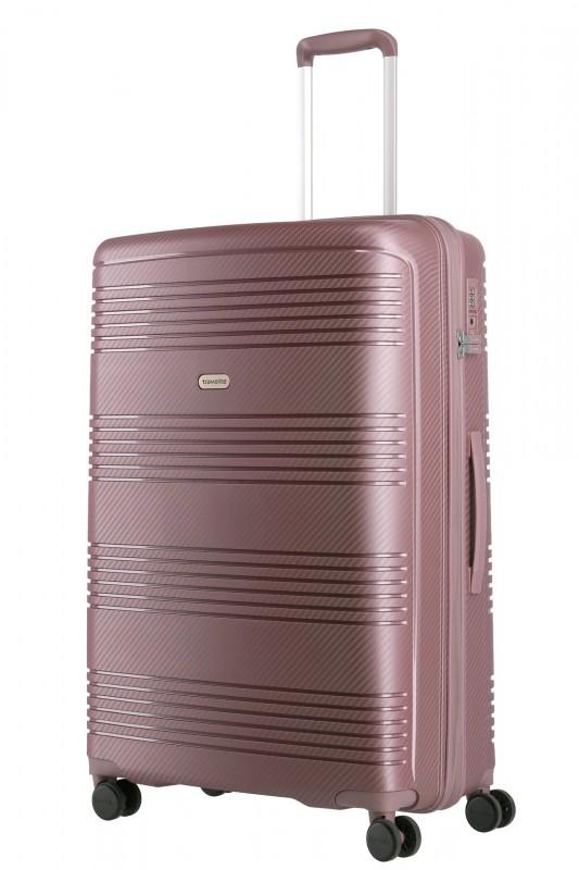 Travelite ZENIT Odolný spořepinový kufr 77 cm (Dark Rose)