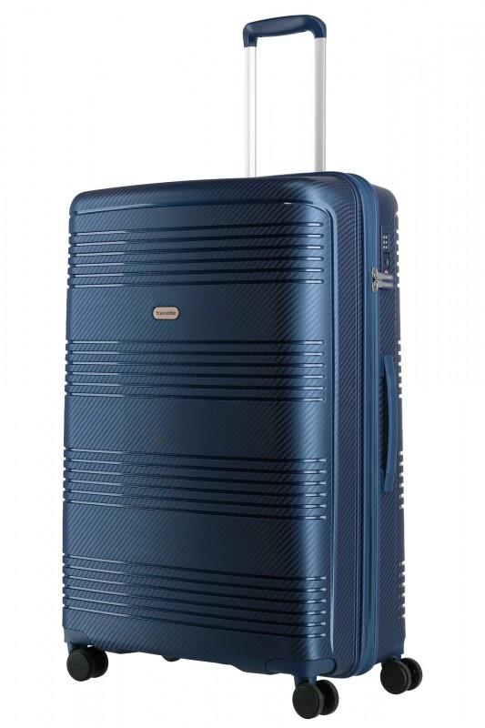 Travelite ZENIT Odolný spořepinový kufr 77 cm (Blue)