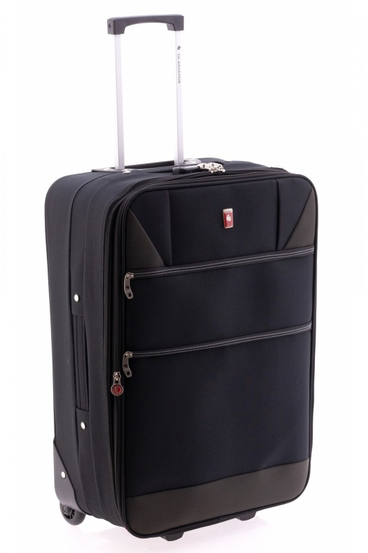 Gladiator METRO Rozšířitelný menší kufr na dvou kolečkách 61cm (Black)