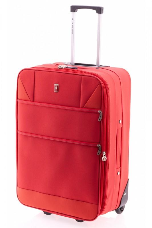 Gladiator METRO Rozšířitelný menší kufr na dvou kolečkách 61cm (Red)