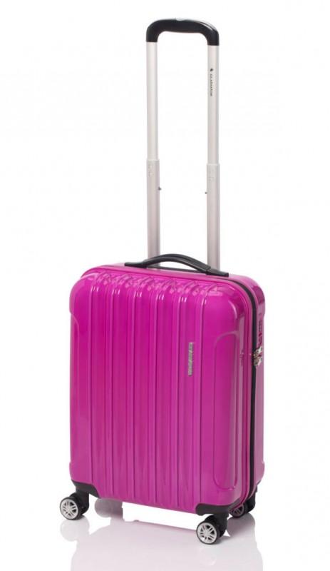 Gladiator NEON Lehký polykarbonový kufr s TSA 55cm (Magenta)