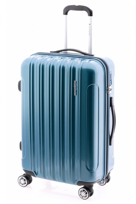 Gladiator NEON LUX Lehký polykarbonový střední kufr s TSA 67cm (Petrol blue)