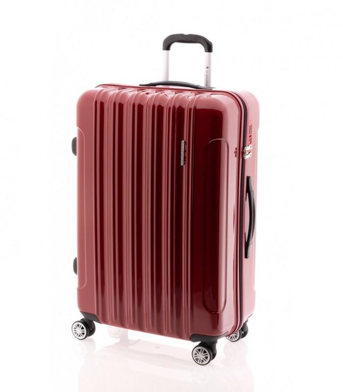 Gladiator NEON LUX Lehký polykarbonový velký kufr s TSA (Red)