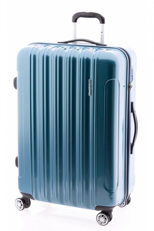 Gladiator NEON LUX Lehký polykarbonový velký kufr s TSA (Petrol blue)