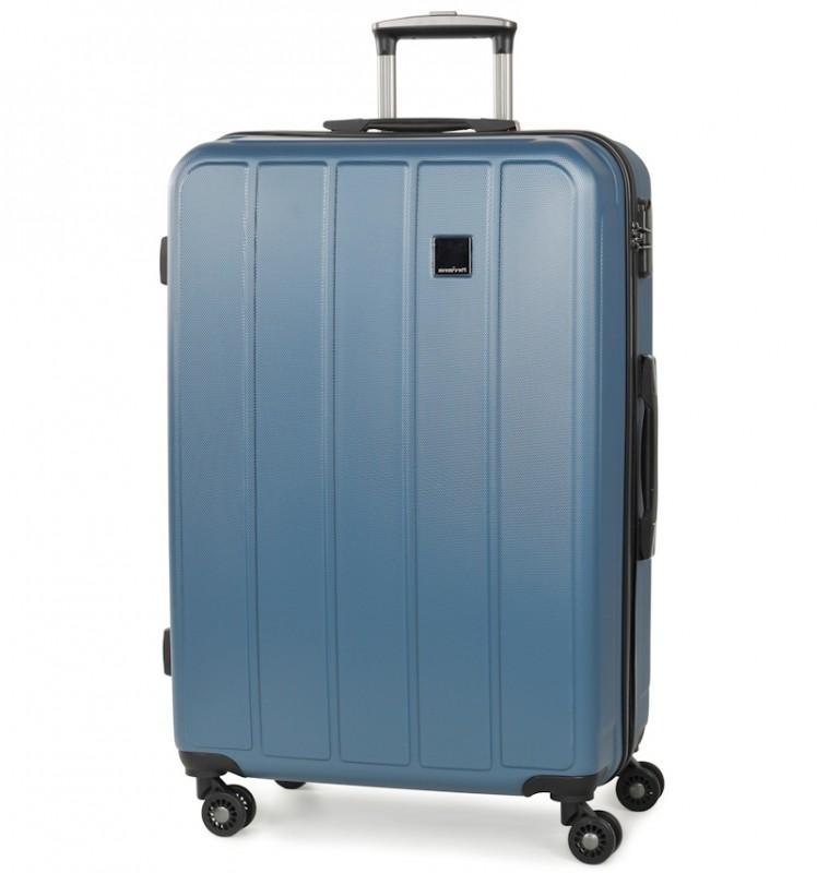 Member´s NEXA Velký cestovní kufr z ABS 77cm (Modrá)