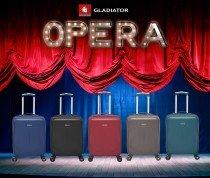 Levné plastové kufry z ABS Gladiator OPERA