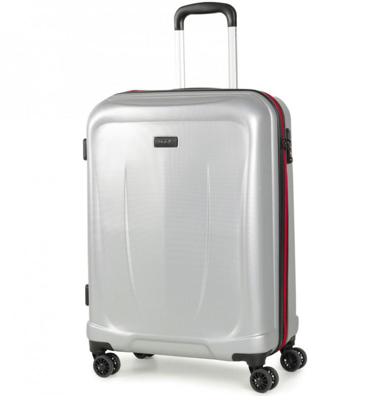 Rock DELTA Palubní kufr z ABS 55cm (stříbrná)