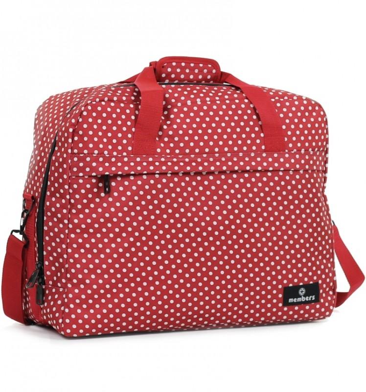 Member's ESSENTIAL ON-BOARD Cestovní taška 55 cm, S (červená/ bílá)