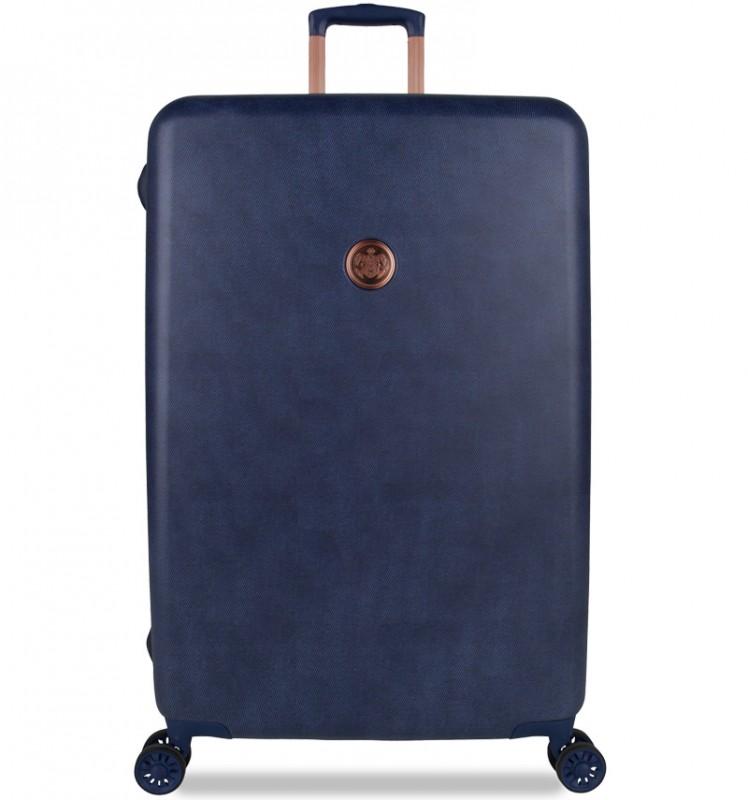 SuitSuit RAW DENIM Plastový kufr v riflovém vzoru 67 cm, TR-1235/3-M