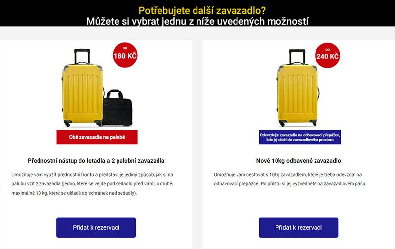 Ryanair - pravidla pro zavazadla