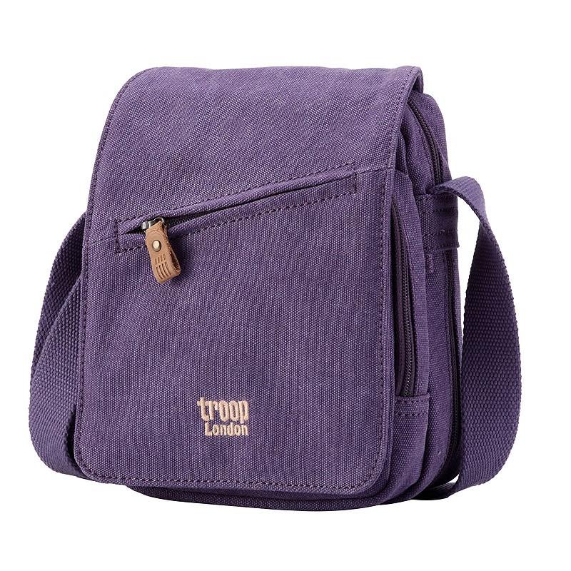 Troop London TRP0239 Rozšířitelná menší taška přes rameno - Purple