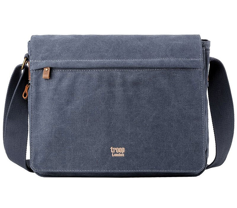 Troop London TRP0240 Rozšířitelná taška na notebook 15,6 - Blue