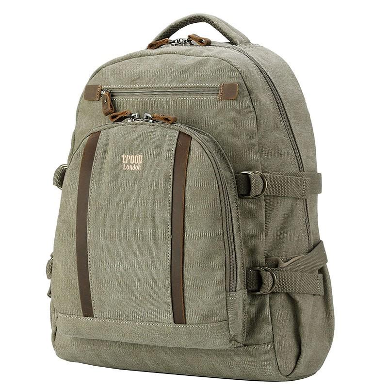 Troop London TRP0257 Velký batoh z přírodní bavlny - Khaki