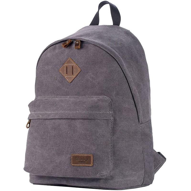 Troop London TRP0384 Školní batoh klasického vzhledu - Charcoal