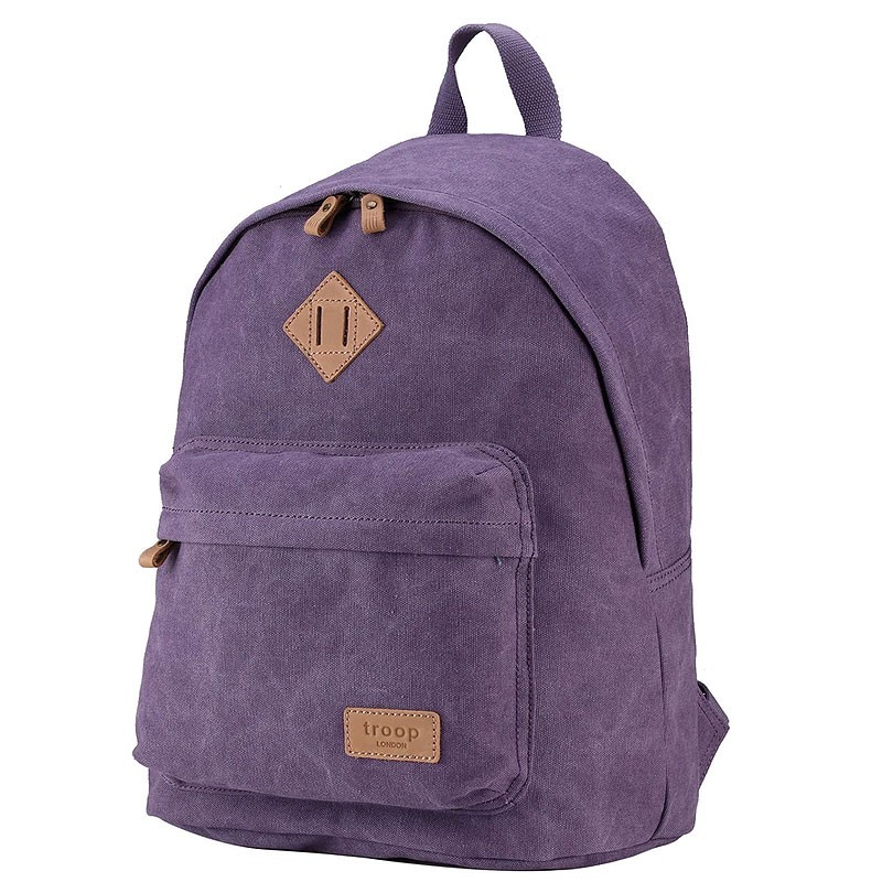 Troop London TRP0384 Školní batoh klasického vzhledu - Violet