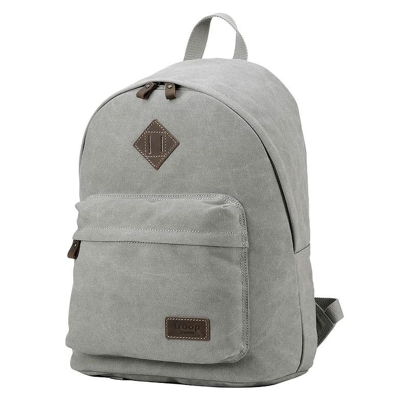 Troop London TRP0384 Školní batoh klasického vzhledu - Grey