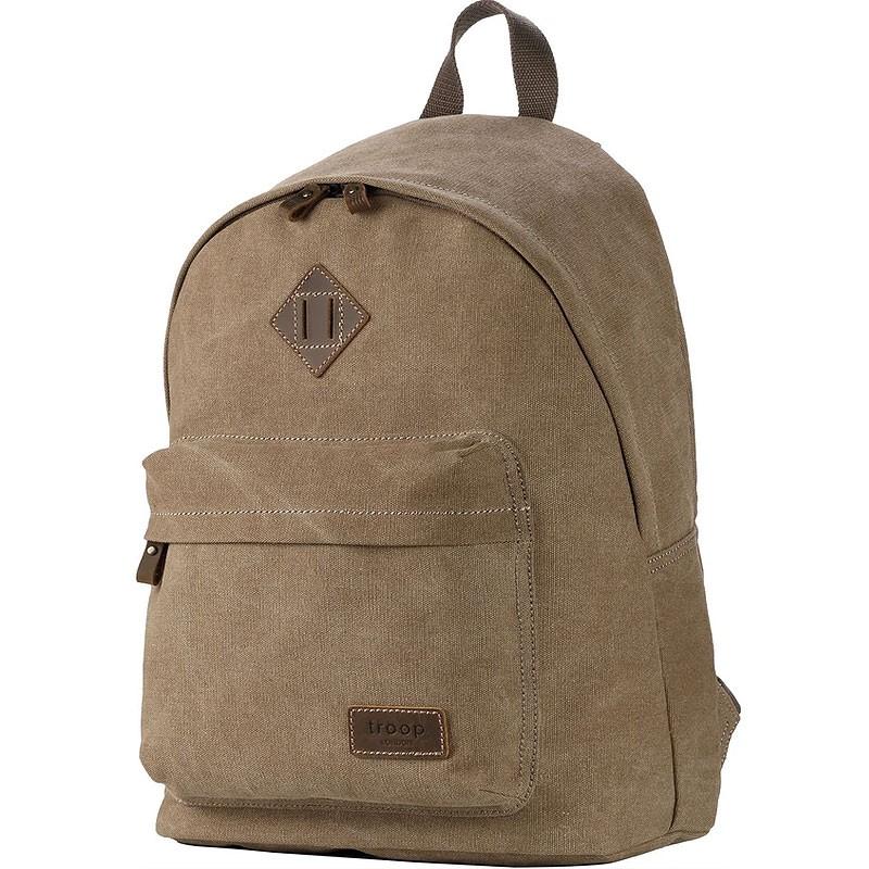 Troop London TRP0384 Školní batoh klasického vzhledu - Brown