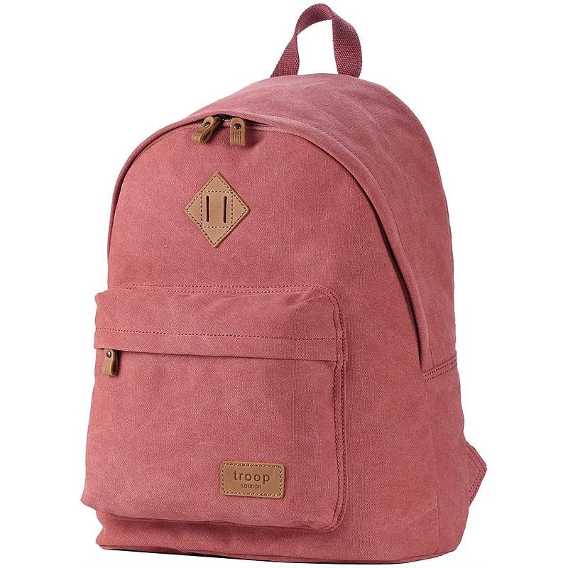 Troop London TRP0384 Školní batoh klasického vzhledu - Pink