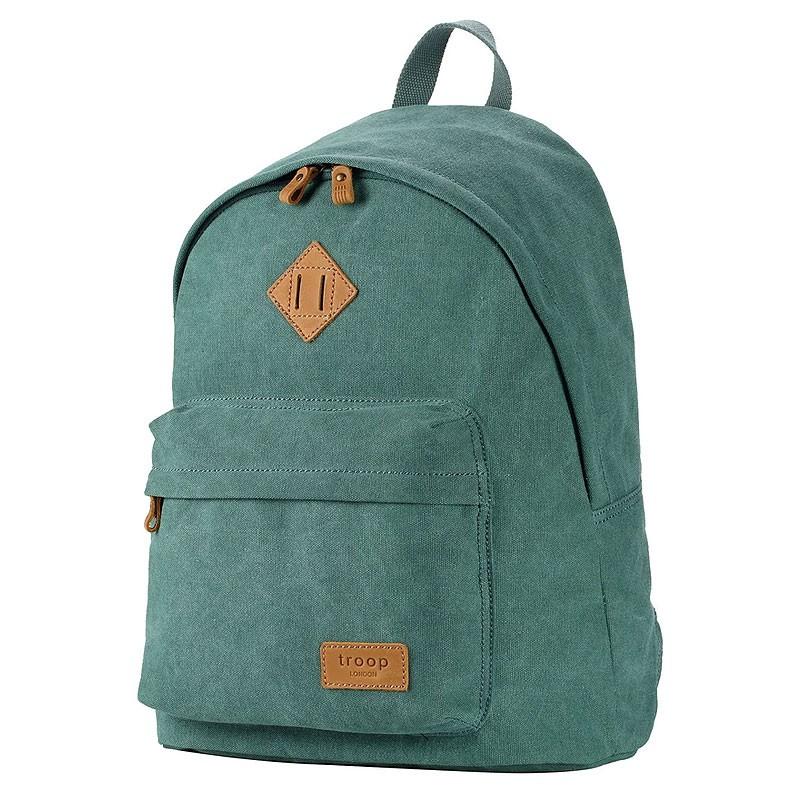 Troop London TRP0384 Školní batoh klasického vzhledu - Turquoise