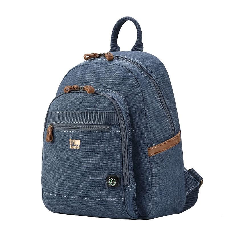 Troop London TRP0510 Malý batoh z přírodní bavlny - Blue