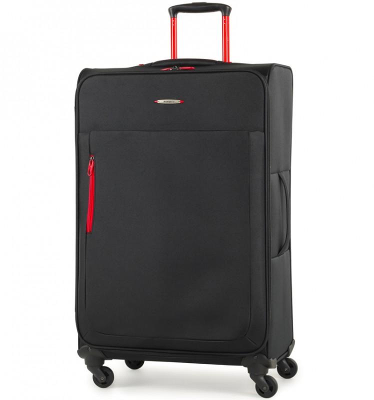Member´s HI-LITE Rozšířitelný kufr s barevnými doplňky, 78 cm (Černá)