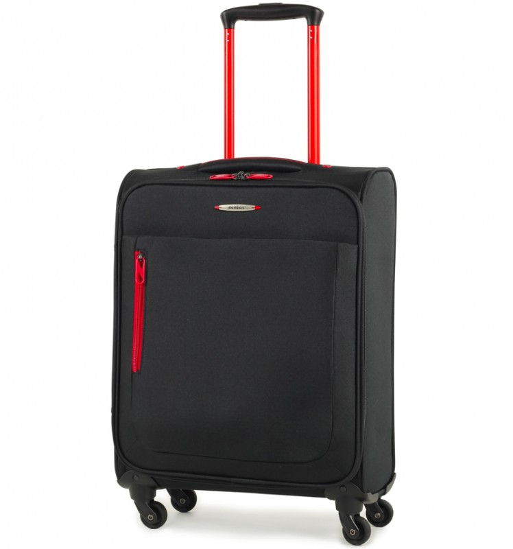Member´s HI-LITE Lehký kabinový kufr s barevnými doplňky, 54 cm (Černá)