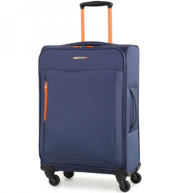 Member´s HI-LITE Rozšířitelný kufr s barevnými doplňky, 67 cm (Modrá)