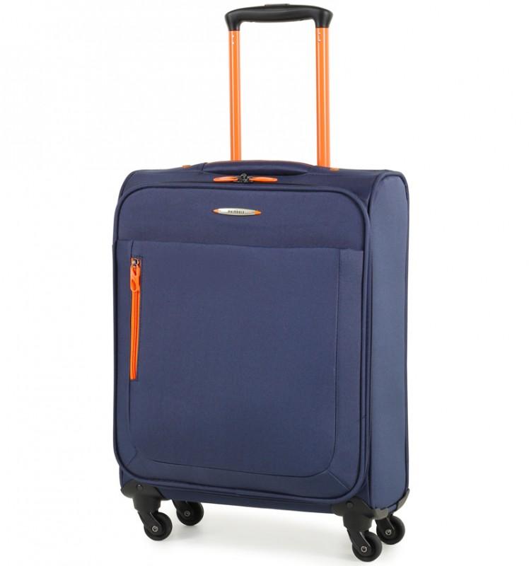 Member´s HI-LITE Lehký kabinový kufr s barevnými doplňky, 54 cm (Modrá)