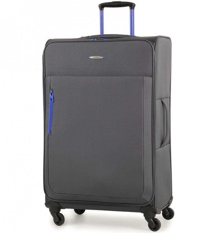 Member´s HI-LITE Rozšířitelný kufr s barevnými doplňky, 78 cm (Šedá)