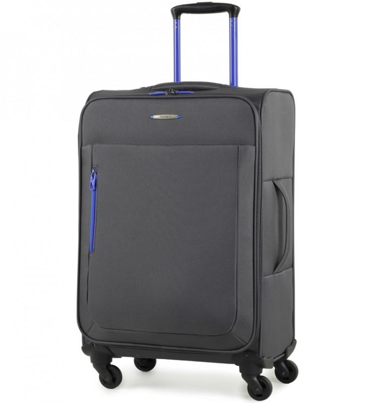 Member´s HI-LITE Rozšířitelný kufr s barevnými doplňky, 67 cm (Šedá)