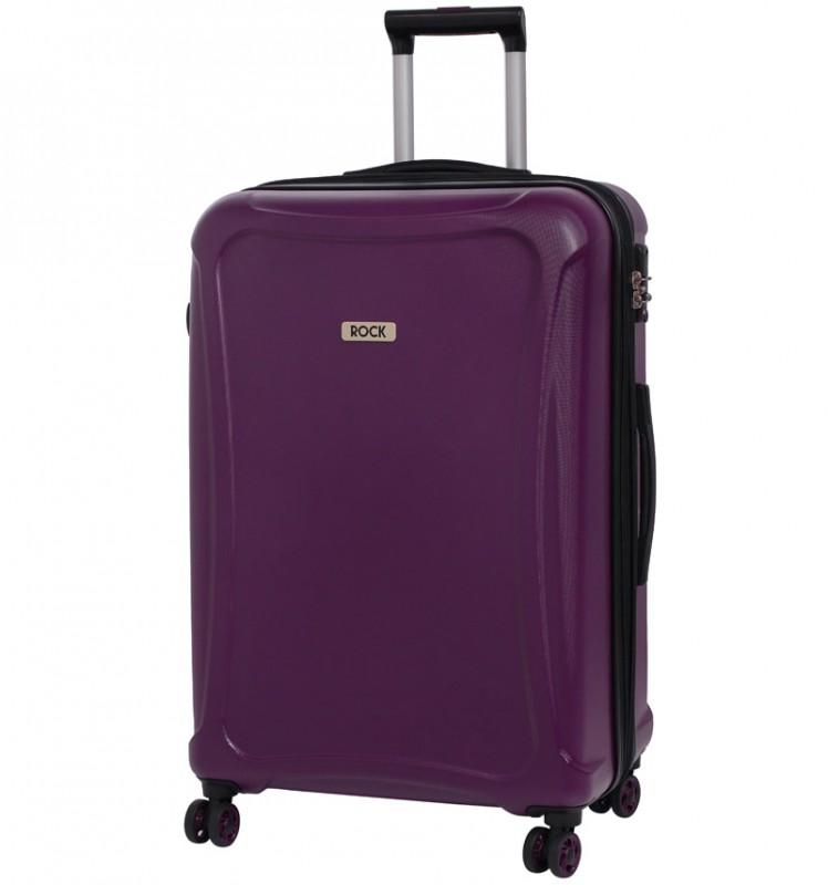 Rock TECTONIC Rozšířitelný cestovní kufr z extra odolného Duralitonu 72cm (Fialový)