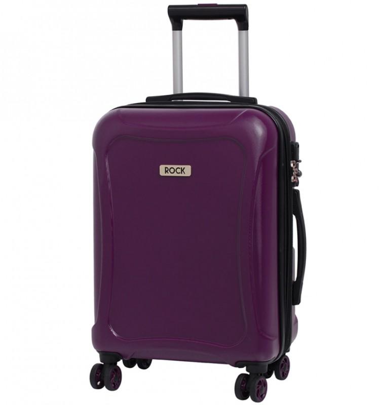 Rock TECTONIC Rozšířitelné kabinové zavazadlo z extra odolného Duralitonu 54cm (fialové)