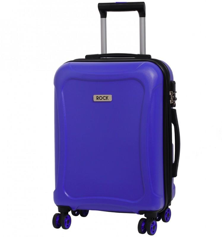 Rock TECTONIC Rozšířitelné kabinové zavazadlo z extra odolného Duralitonu 54cm (modré)