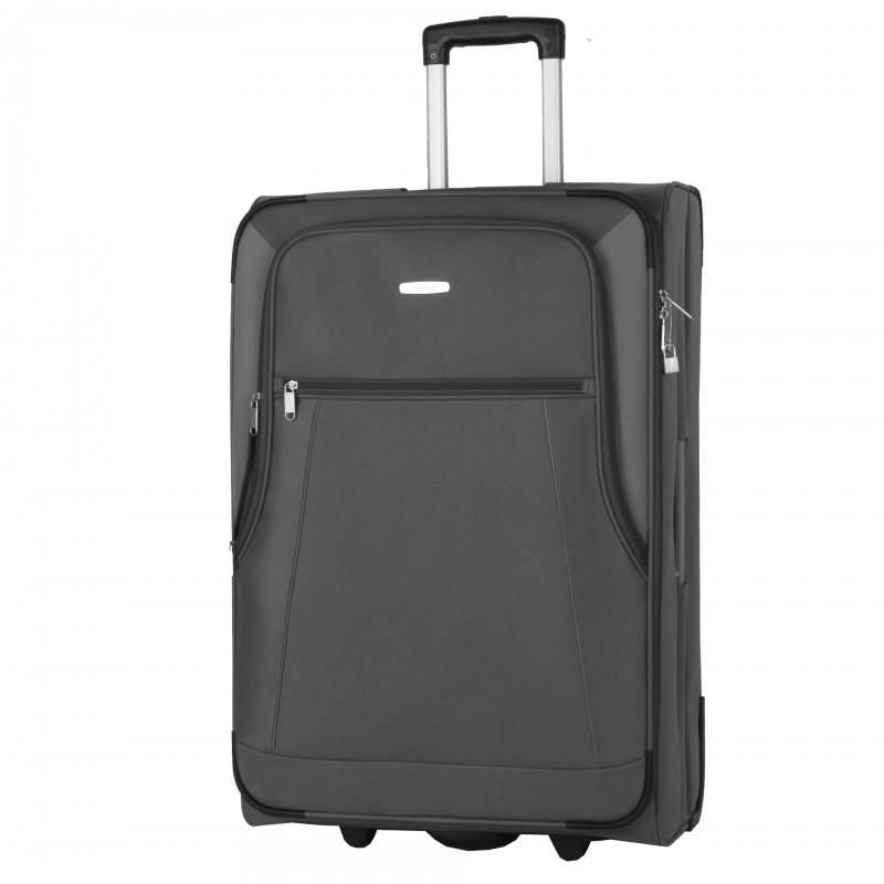 Travelite PORTOFINO Textilní kufr na dvou kolečkách 72cm (Anthracite)