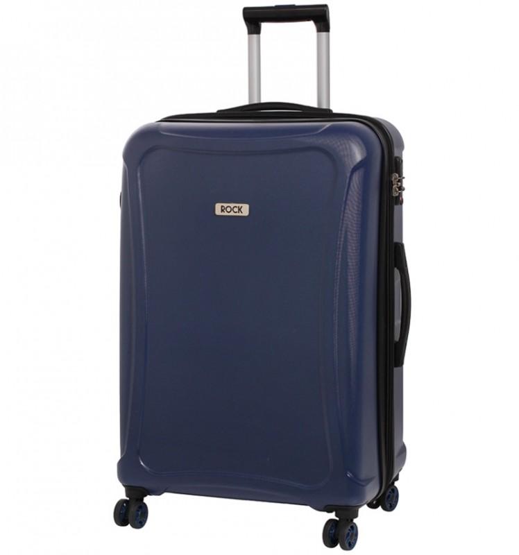 Rock TECTONIC Rozšířitelný cestovní kufr z extra odolného Duralitonu 72cm (Tmavě modrý)